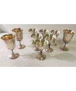 Vtg. PLATOR Spain Silver Plated Wine Goblets Set Of 6 Grapevine Embossed... - $25.23