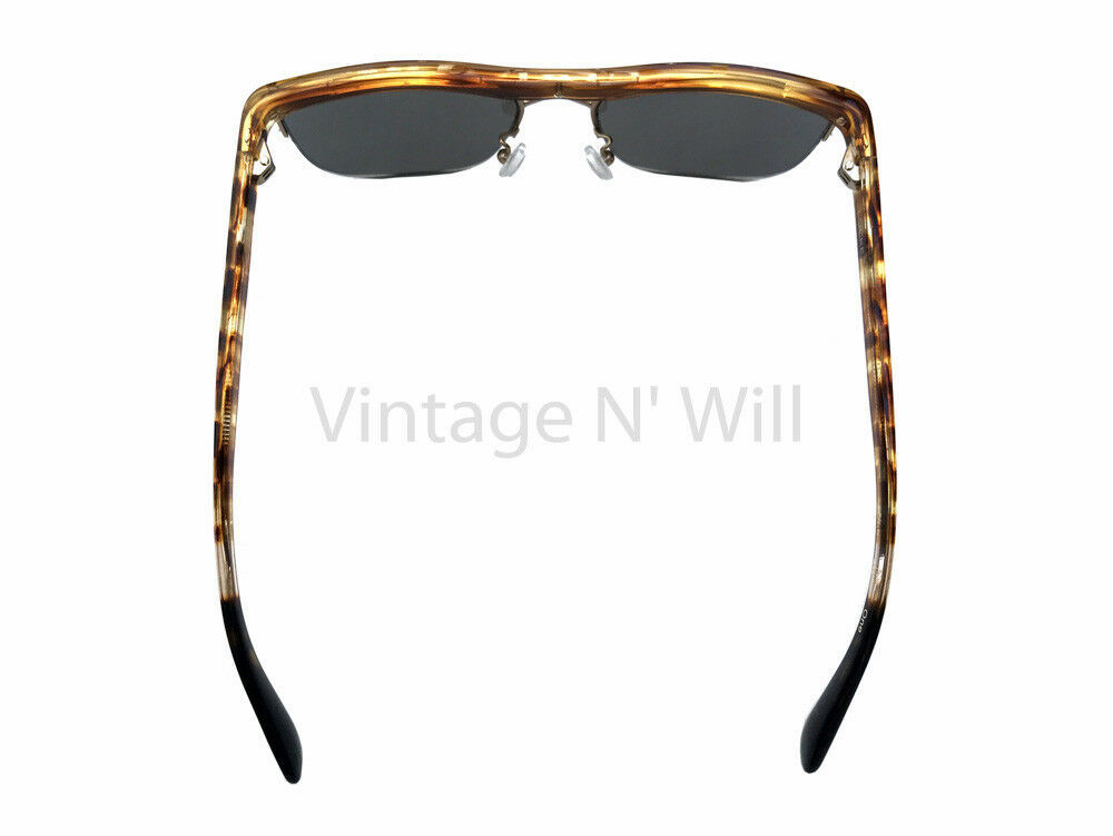 803073d46ebb TOMS Shoes Locke Amber  Tortoise Copper Mirror Semi-Rimless Sunglasses 70s