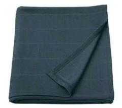 Ikea Oddhild Throw Cover Dark Blue Blanket Sofa Fleece Bed Travel Throwover New  - $23.27