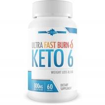 Ultra Fast Burn Keto 6 - Weight Loss Blend Burn Fat Faster Keto BHB Salts 60 Cap - $96.99