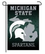 """Michigan State Spartans 12"""" x 18"""" Premium Home State Garden Flag - $14.95"""
