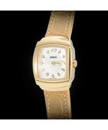 Damiani 18ct YG EGO CARRE Damas Reloj con ORIGINAL VVS Diamantes Acero H... - $11,500.51