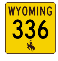 Wyoming Highway 336 Sticker R3519 Highway Sign - $1.45+