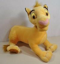 "The Lion King SIMBA 2002 Hasbro Disney Large Jumbo Stuffed Animal Plush Toy 16""  - $13.85"
