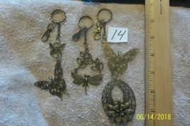 purse jewlrey bronze color keychain backpack filigree dangle charms #14 ... - $21.28