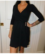 AMERICAN APPAREL Women's Black Wrap Dress Size US XS - $59.39