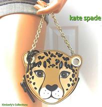 Kate Spade Coin Purse Cat Run Wild Leopard Bag NWT $119.00 - $49.49