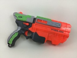 Vigilon Vortex Nerf Disc-Launching Blaster Toy Pistol Hasbro 2010 - $22.23