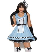 Storybook Alice Costume Dress Bow Apron Gloves Checkered Wonderland 99084 - $47.99