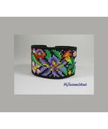 Bead Loom Bracelet Flower Power 2 Artisanal Jewelry Floral Motif Bead Lo... - $80.00