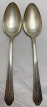 Lot Of 2 Wm Rogers Sectional International Silver Imperial Place/Oval So... - $11.88