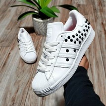 Adidas Superstar Studded Women's Size 6.5 White Shoes - $74.24