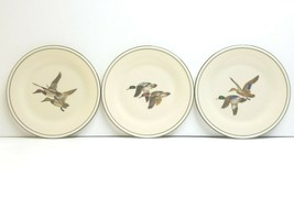 "3 Lenox Special L8 Two Flying Ducks 8 1/8"" Hunt Game Birds Mallard Salad... - $45.41"