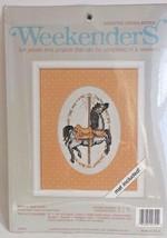 WeekenderS Dapple Gray Pony cross stitch kit 02724 carousel horse mat in... - $11.99
