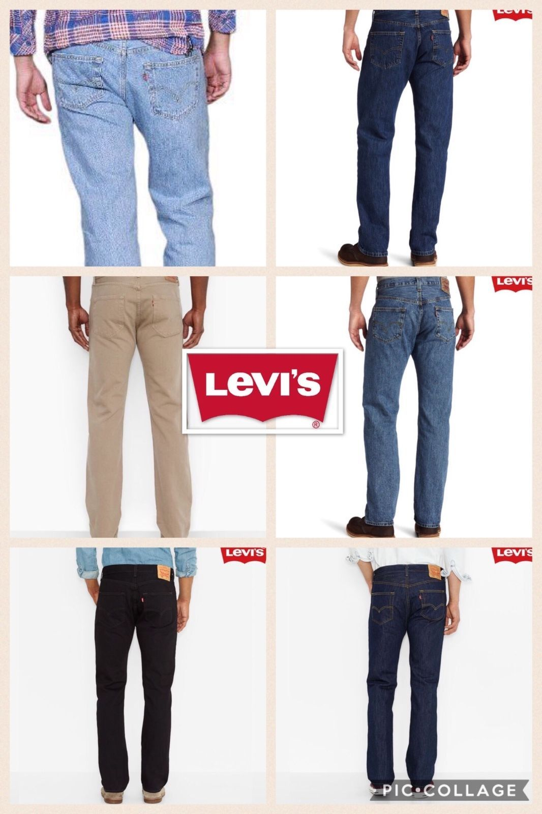 Used, Levis 501 Button Fly Mens Jeans Many Colors All Sizes for sale  USA