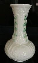 Belleek Ireland Shamrock Bud Vase 6th Mark Third Green Mark 1965-1980 - $11.99