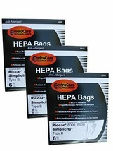 18 bags (3 pkgs) Type B HEPA Allergy Bags For Riccar 8000 8900, Simplicty 7 & 70 - $33.41