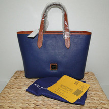 Dooney & Bourke Pebble Leather Brandy Satchel OCEAN BLUE