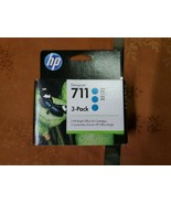 Genuine HP Design Jet 711 CYAN 3 Pack • SEALED • 8/21 - $63.00