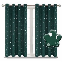 BGment Moon and Stars Blackout Curtains for Kids Bedroom, Grommet Therma... - $36.24