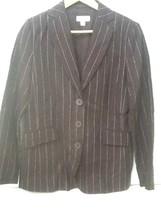 Isaac Mizrahi for Target Women's Brown Linen Pinstriped Blazer Jacket Sz 4 - $29.95
