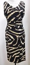 NWT Ralph Lauren Sleeveless Brown Tan Stretchy Dress, Size 8 - $58.41
