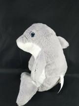 "The Petting Zoo Dolphin Gray White Sitting up Plush Stuffed Sea Animal 10"" - $11.57"