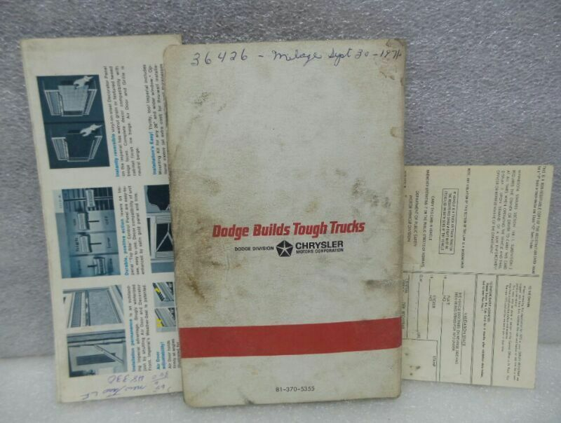DODGE 100 200 300 PICKUP TRUCK 1965 Owners Manual 16295