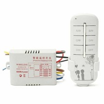 Remote Wireless Switch 4 Way Channel 220V On Off For Light Lamp Splitter... - $24.74