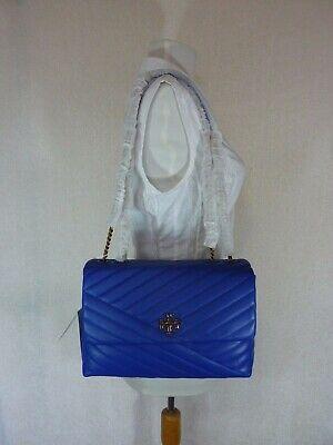 NWT Tory Burch Nautical Blue Kira Chevron Convertible Shoulder Bag