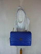 NWT Tory Burch Nautical Blue Kira Chevron Convertible Shoulder Bag image 1