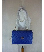 NWT Tory Burch Nautical Blue Kira Chevron Convertible Shoulder Bag - $522.71