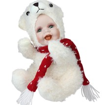 "Northlight 9.25"" Porcelain Baby in Polar Bear Costume Collectible Christ... - $24.74"