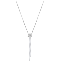 Swarovski 5408435 Lifelong Crystal Rhodium Plated Drop Necklace - $84.14