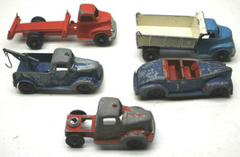 "5pc Vintage 1950s 5"" Pressed Steel TootsieToys TootsieParts Dump+Wrecker... - $42.06"
