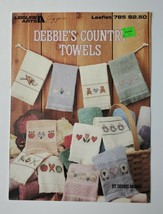 Country Towels Counted Cross Stitch Leisure Arts Leaflet #785 1989   - $4.25