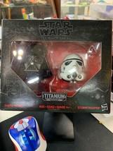 *Damaged pkg* Star Wars Black Series Titanium Helmets #03 Vader & Stormt... - $7.92