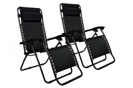 New Zero Gravity Chairs Case Of 2 Lounge Patio Chairs Outdoor Yard Beach... - $64.99+