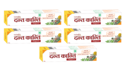 Patanjali Dant Kanti Natural Toothpaste X 5 Packs - $46.79