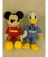 """Disney Mickey Mouse Donald Duck Race Car Driver Plush 9"""" Just Play #3 #28 - $8.96"""