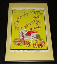 Vintage OBU vs Oklahoma Aggies Football Framed 10x14 Poster Official Repro - $46.39