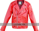 Red leather jacket front l thumb155 crop