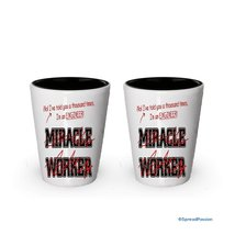 I'm a Engineer shot glass, Not a Miracle Worker - Funny gifts for Engineers (2) - $17.59