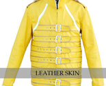 Yellow military leather jacket front thumb155 crop