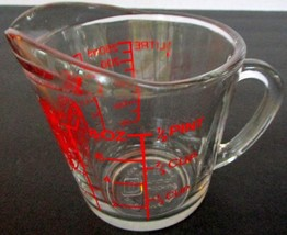 Anchor Hocking 1 Cup 1/2 Pint Glass Measuring Cup With Handle - $16.40