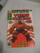 THE THING alone against the MYSTERY MENACE #31 VG cond marvel 1977 - $2.99