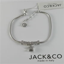 Silver 925 Bracelet Jack&co with Star Dog Butterfly Clover or Cat image 7