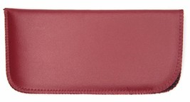 NEW Soft Eyeglasses Glasses Case Pouch Red 160x80mm w/ Cleaning Cloth - $3.90