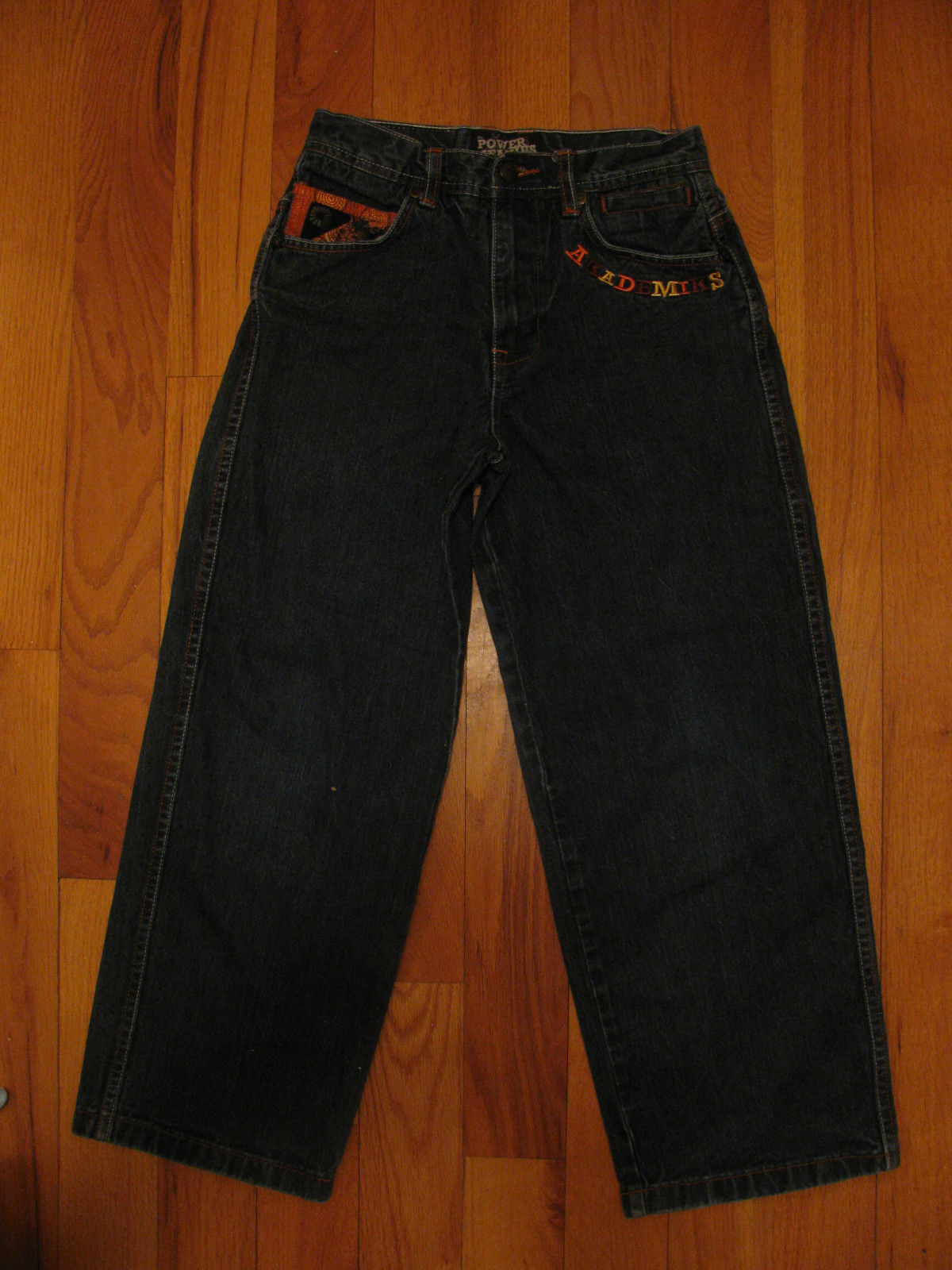 JEANS AKADEMIKS DENIUM JEANS THE POWER OF JEANIUS SIZE12 EMBELLISHED EMBROIRERY  image 2