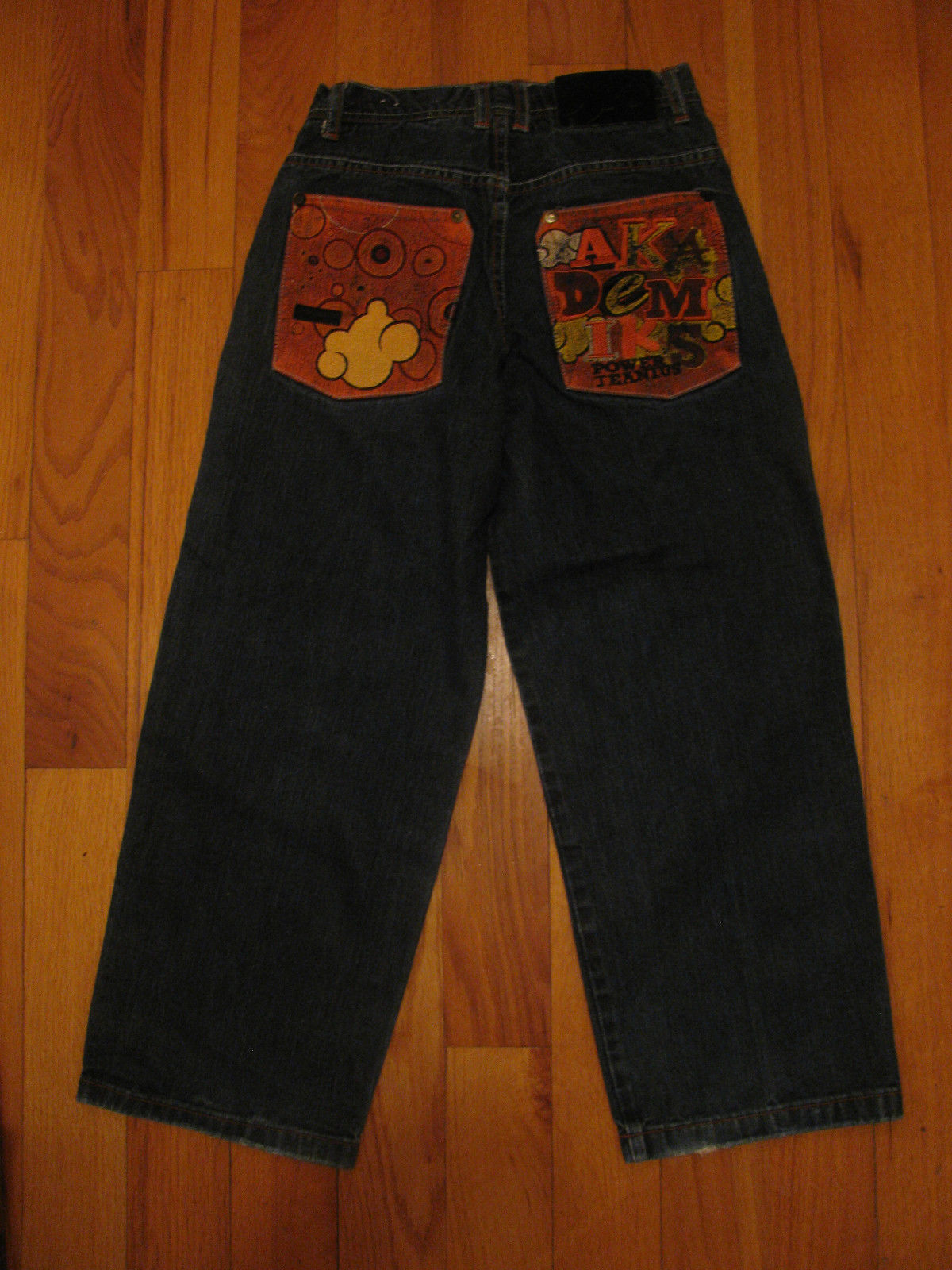JEANS AKADEMIKS DENIUM JEANS THE POWER OF JEANIUS SIZE12 EMBELLISHED EMBROIRERY  image 3